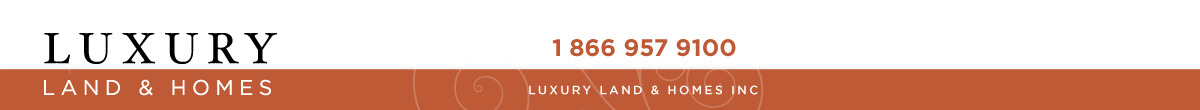 Luxury Land and Homes real estate banner