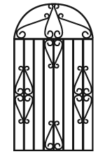 Luxury Land and Homes black gate logo