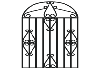 Luxury Land and Homes Logo Gate