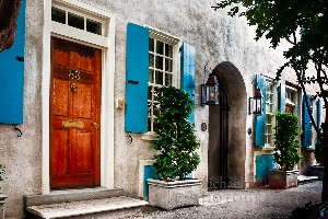 historic charleston stucco home